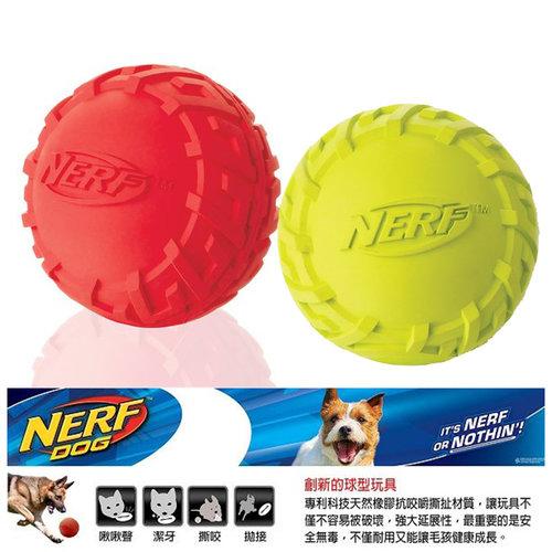 NERF樂活打擊─ 綠色/紅色 犬用越野球型橡膠玩具3/犬用玩具/狗玩具/橡膠玩具