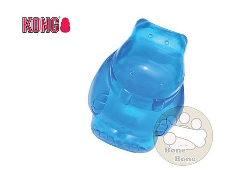 Kong玩具Squeezz Jels 啾啾果凍軟糖 M號 橘/紫/藍/粉 河馬
