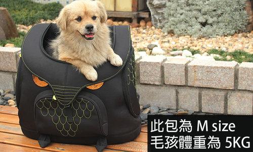 Daisuki 後背包小型寵物袋(鐵庫鳥)M號 雙肩後背式寵物袋 寵物外出包 手推車 外出籠 FD01-MMA