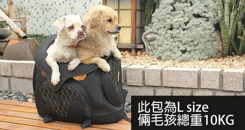 Daisuki 後背包大型寵物袋(鐵庫鳥)L號 雙肩後背式寵物袋 寵物外出包 手推車 外出籠 FD01-LMB