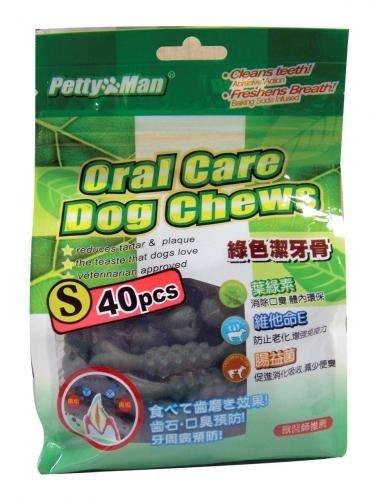 PettyMan小丁骨/petty Man綠色潔牙骨40支入/綠色潔牙骨