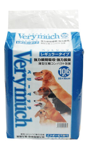 VERYMUCH 犬貓除臭抗菌尿片/尿布/小106入(超取限一包)