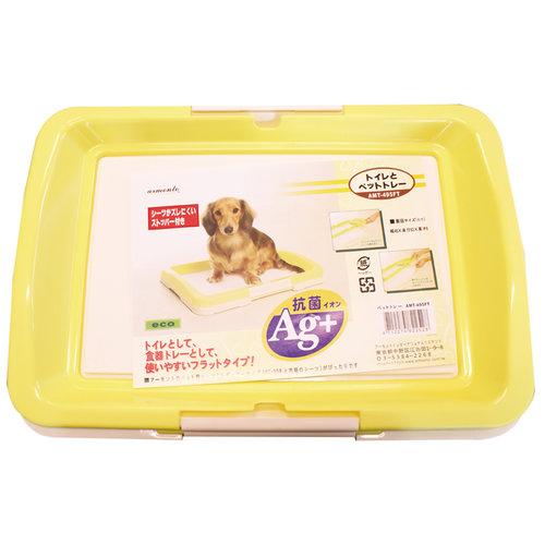 阿曼特 Armonto AMT-650平面式狗狗便盆/廁所盆/定點上廁所訓練-M號 黃色