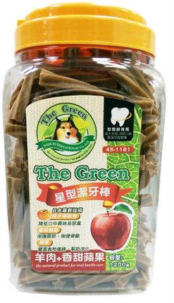 The Green 狗潔牙骨1200g大桶裝/The Green星型潔牙棒-羊肉+蘋果 1200g