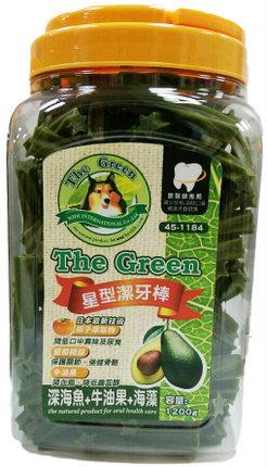 The Green 狗潔牙骨1200g大桶裝/The Green星型潔牙棒-深海魚+牛油果+海藻 1200g