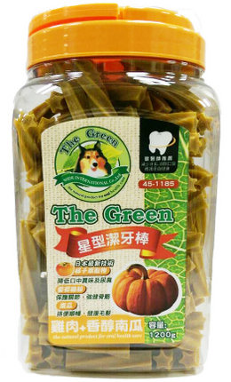 The Green 狗潔牙骨1200g大桶裝/The Green星型潔牙棒-雞肉+南瓜1200g