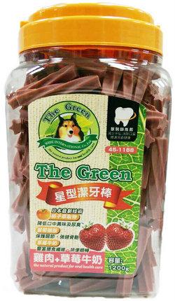 The Green 狗潔牙骨1200g大桶裝/The Green星型潔牙棒-雞肉+草莓牛奶 1200g
