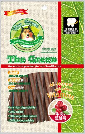 The Green 潔牙骨6支入袋裝/The Green星型潔牙棒-牛肉+蔓越莓 6支入