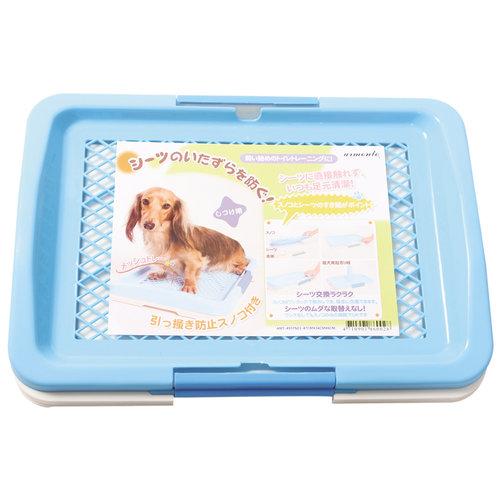 阿曼特 Armonto AMT-650FNT防抓平面式廁所盆/防咬狗狗便盆/尿盆-M號 藍色