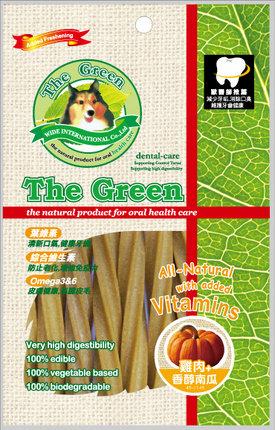 The Green 潔牙骨6支入袋裝/The Green星型潔牙棒-雞肉+南瓜 6支入