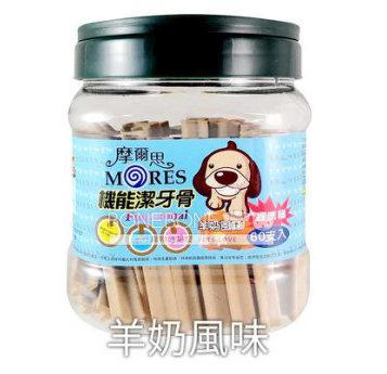 摩爾思 潔牙骨 寵物犬用狗零食羊奶風味60入經濟桶裝