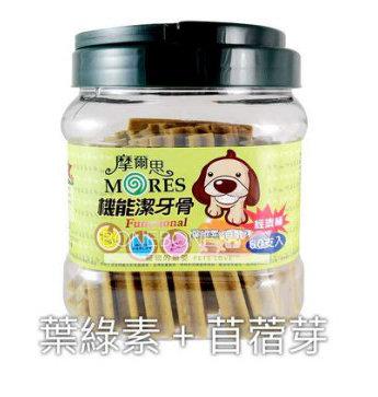 摩爾思 潔牙骨 寵物犬用狗零食-葉綠素+苜蓿芽口味 60入經濟桶裝