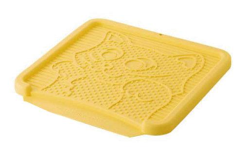 日本Richell利其爾 卡羅貓踏板/貓砂便盆踏墊/落砂板 黃色下標區