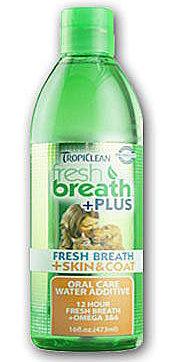 美國Fresh breath 鮮呼吸-寵物潔牙水/473ml (美膚)/預防口臭/減少牙菌斑