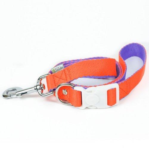 PPark 環保紗-快扣拉繩-台灣燦蛺蝶 橘+紫  XS(寬度1cm/120cm)
