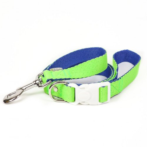 PPark 環保紗-快扣拉繩-台灣鉤粉蝶 亮綠+藍L(寬度2.5cm/120cm)