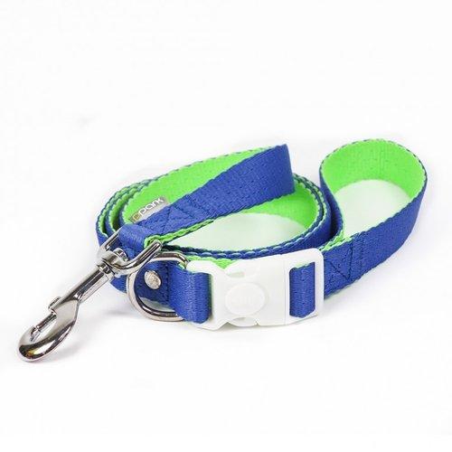 PPark 環保紗-快扣拉繩-玻璃蛺蝶 藍+亮綠  XS(寬度1cm/120cm)