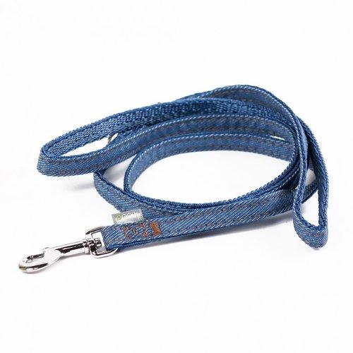 PPark 牛仔布-快扣拉繩  淺藍  XS(寬度1cm/120cm)