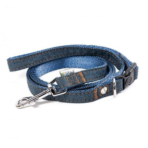 PPark 牛仔布-快扣拉繩 深藍 XS(寬度1cm/120cm)