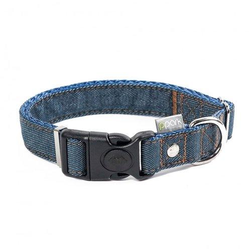 PPark 牛仔布-一般項圈 深藍色 四種尺寸