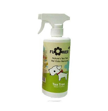 花系列Flower 寵物臭消除劑/消臭劑/狗狗除臭噴劑/噴霧  茶樹清香(驅蚤配方) 500ml
