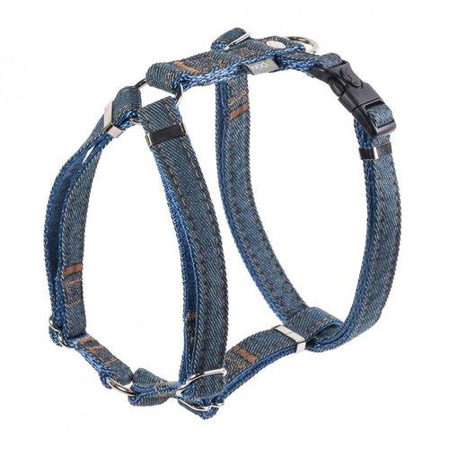 PPark -牛仔布-H型胸背帶/深藍/四種尺寸