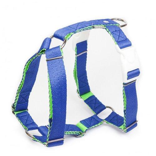 PPark -環保紗-雙扣H型胸背帶/藍色/五種尺寸