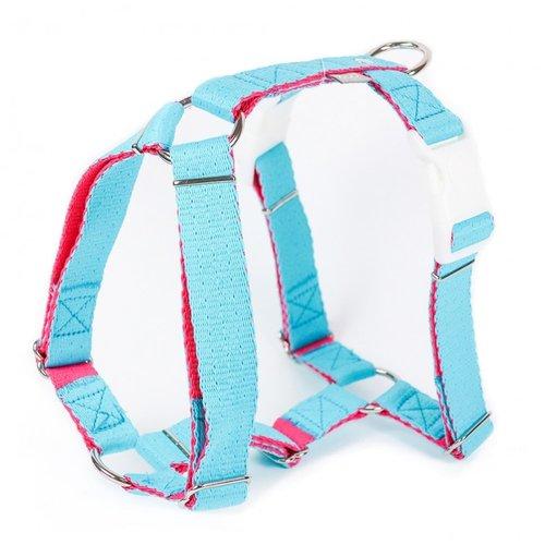PPark -環保紗-雙扣H型胸背帶/水藍/五種尺寸