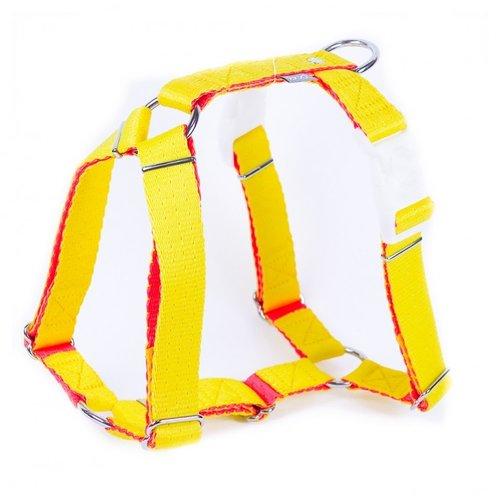PPark -環保紗-雙扣H型胸背帶/黃色/五種尺寸