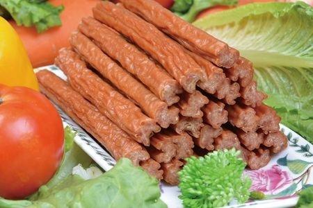 雞老大 全犬種/CBP-14臘香包腸雞肉嚼棒-8入/片無鹽低脂/狗零食/犬用點心/耐咬