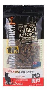 100%NATURAL FARM 自然牧場紐西蘭天然寵物零食貓用 鱈魚鹿肉  120G/三包9折/五包85折