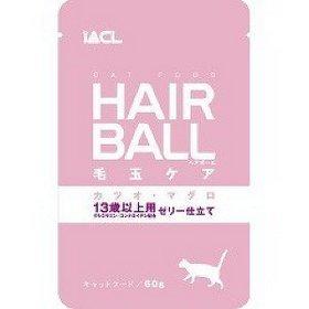 日本 iACL hair ball 化毛 貓咪餐包/寵物蒸鮮包/巧鮮包/(鮪魚+鰹魚 13歲以上)