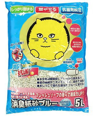 SuperCat大頭貓消臭紙砂 皂香味 5L 紙沙 環保紙貓砂 可沖馬桶 紙貓沙 貓砂 紙砂 同韋民貓砂出廠  超取限1包