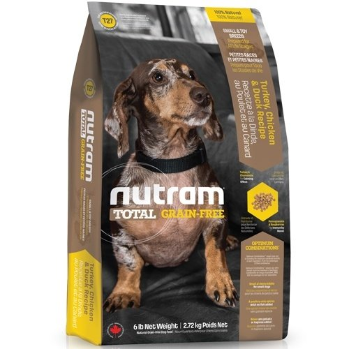 (下殺999元) nutram紐頓-T27無榖挑嘴小型犬(火雞+雞肉+鴨肉)2.72kg