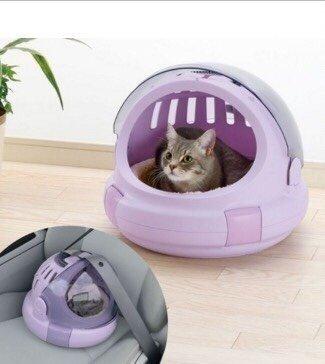 利其爾 Richell 日本Corole厚絨座墊太空艙寵物提籃-S 4Kg寵物用 貓提籃 狗提籃 外出籠 外出提籃
