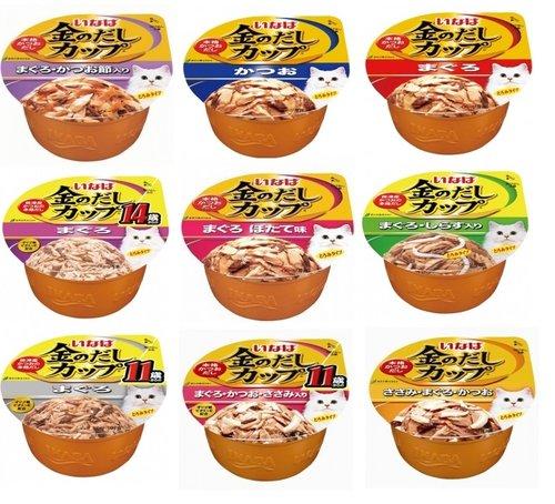 (缺貨中11月才有貨)日本INABA 金湯鰹味杯系列80g 貓罐 貓湯杯 鮪魚/鰹魚/雞肉/11歲/干貝/吻仔魚/蟹 貓餐杯