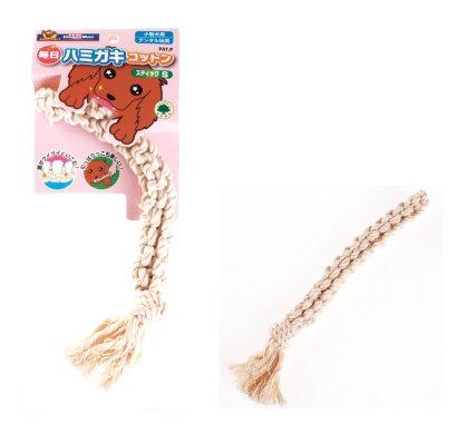 日本DoggyMan【犬用每日潔牙棉繩玩具棒型-S】小型犬用 潔牙玩具