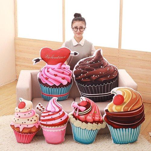 杯子蛋糕甜點抱枕(不含禮物包裝)