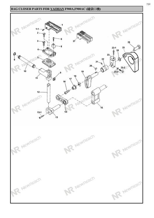 P753767 F900af900acheavy Bag Closer Yaohan Master S
