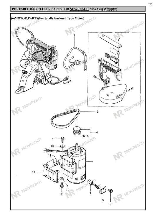P713724 Np 7aportabale Bag Closer Newreach Master Sp