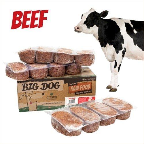 BIG DOG生食肉餅-公司貨付發票~犬用 牛肉/急速冷凍 此商品為冷凍配送/限單筆運費寄送/下標前請詢問現貨