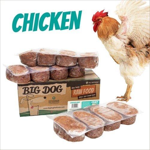 BIG DOG生食肉餅-公司貨付發票~犬用 雞肉/急速冷凍 此商品為冷凍配送/限單筆運費寄送/下標前請詢問現貨