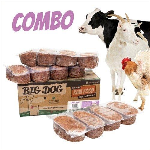 BIG DOG巴夫生食肉餅-公司貨付發票~犬用 綜合/急速冷凍 此商品為冷凍配送/限單筆運費寄送/下標前請詢問現貨