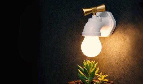 水龍頭造型智能夜燈