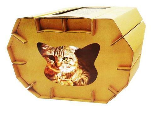 DIY貓抓屋/紙抓板屋 磨爪玩具 貓抓板 耐磨 耐抓 抗憂鬱/Hagen 赫根 AFU 貓屋可參考