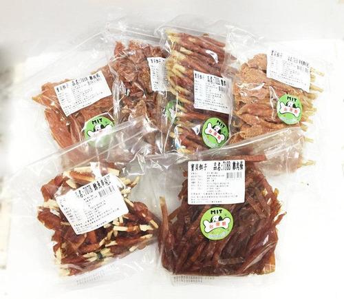 寶貝餌子業務包420g(雞肉捲/雞肉條/鱈魚串燒2吋/蕃薯肉捲/串燒雞肉乾)狗狗零食/寵物點心