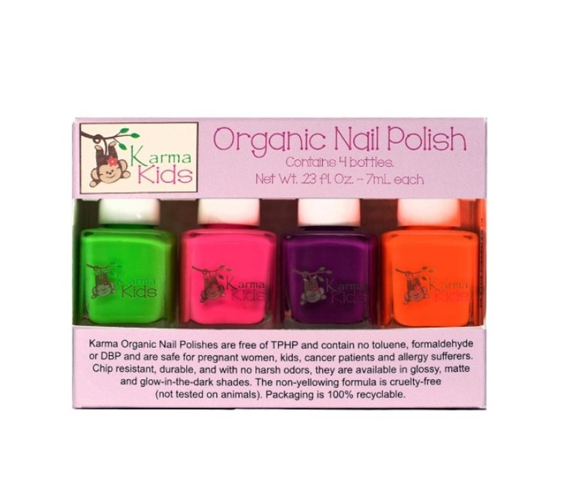 兒童有機指甲油盒套裝Karma Kids Organic Nail Polish!
