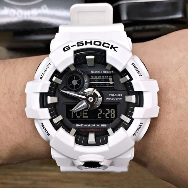 factory price d21d8 d24bf Buy Casio G-Shock GA-700-4A White x Black Men's Watch