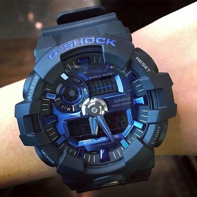 1d6b6311d94 Buy Casio G-Shock GA-710-1A2 Black x Blue Men s Watch