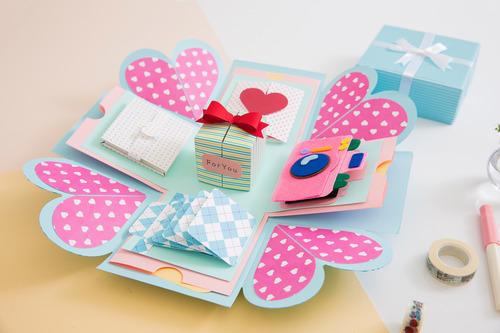 手作驚喜禮物盒 (爆炸卡片)